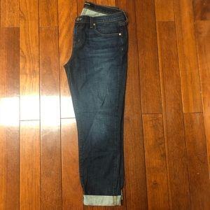 J Brand Dark Blue Straight Leg Jeans
